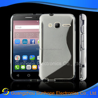 S line design cell phone case for alcatel PIXI 4 4.0 tpu cover