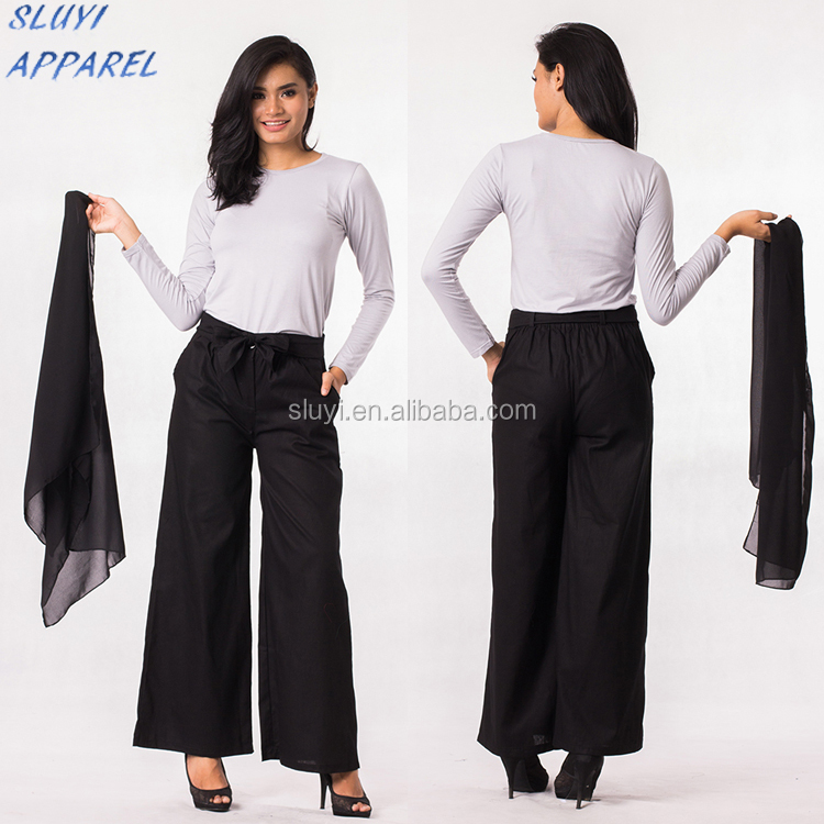 Wholesale fashion beautiful office uniform designs for muslim women pants and blouse office wear tops and pants