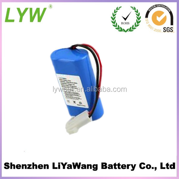 3.7v 1200mah 18650 li ion battery cell packed into 7.4v li ion battery pack