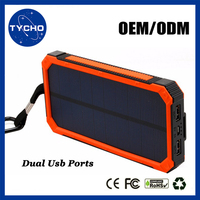 High Capacity Portable Solar Power Bank External 8000mAh Solar Power Bank Waterproof Solar Power Bank Charger