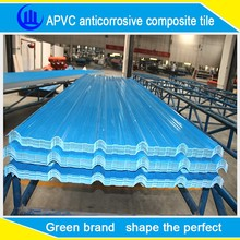 2 layers composite plastic roof tile/combined color pvc roof sheet/up blue and down white pvc roof tile