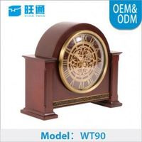 high-end hot-sale New Classical ODM antique brass table clock