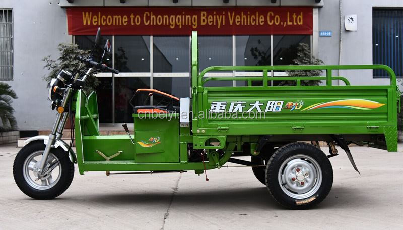 Made in Chongqing Red/Blue/Orange/Green Cheap Cargo Tricyle