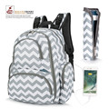 USB Baby Diaper Backpack With Insulated Pockets Water-resistant Baby Bag/ Multi-functional Travel Include Changing Pad