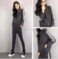 Hot sexy fancy casual wear sports wear for ladies with high quality 100%pure cotton