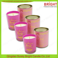 High End Scented Soy Candle In Glass Jar