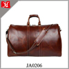 Vintage brown big capacity luggage shoulder genuine leather travel bag