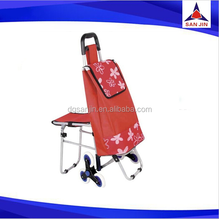 2016 Folding Shopping bag with wheels