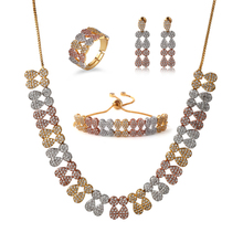 18k White Gold Italian African Gold Plated Jewelry Sets Wholesale