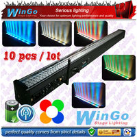 240 pcs battery and wireless DMX led bar light/RGBWA 5 in 1 wireless battery bar light for dancing, night club, dj party