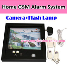 Wireless house alarm with camera built-in and video/photo recording function