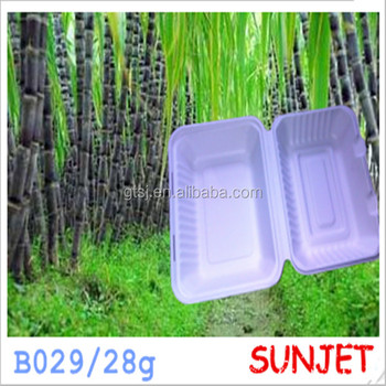 disposable biodegradable sugarcane fast food container