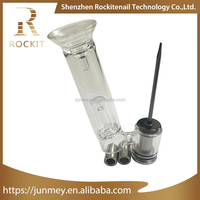 wax oil container with parts of vape pen Rockit 3 in 1 portable erig attachment