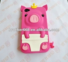 2013 pink pig animal shape mobile phone case with different color for promotion!