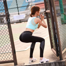 2017 spring and summer new <strong>sports</strong> tight pants fashion offset printing pocket girl running fitness yoga pants