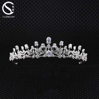 Trendy Diamond CZ Zirconia Wedding Tiaras And Crowns For Brides