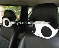 stuffed fur panda car seat cushion&neck pillow set