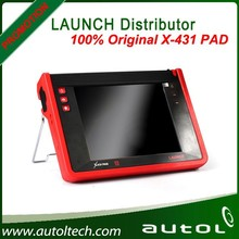 HOT!!! Universal Original LAUNCH X-431 PAD Auto Scanner car diagnostic tool with built-in printer wholesale for Christmas