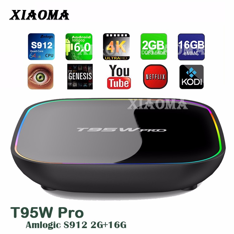 T95W pro scart international android tv box digital satellite receiver