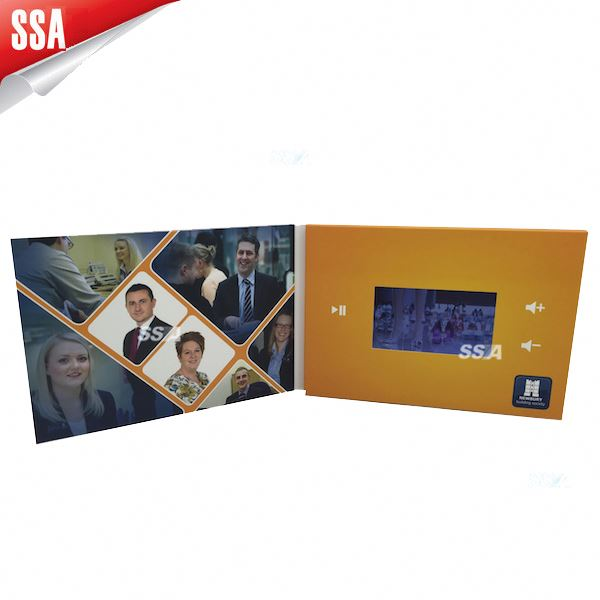 5 inch lcd video brochure card video greeting card module