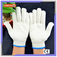 SHINEHOO Nature White Cotton Roping Gauze Gloves
