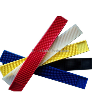 Factory Direct OEM soft PVC custom logo personalized drip counter PVC rubber bar mat