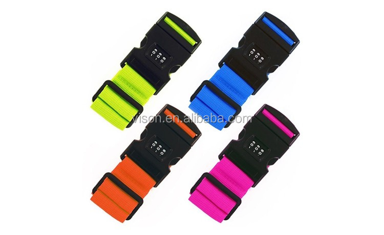 VS-S010 More Durable Wholesale Travel 3-Dial Locking Strap