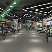 5mm gym rubber sports flooring