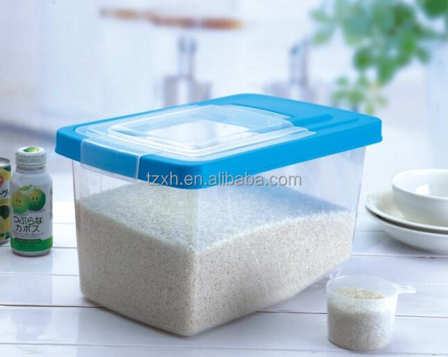 5kgs plastic cereal container with wheel and handle and measuring cup