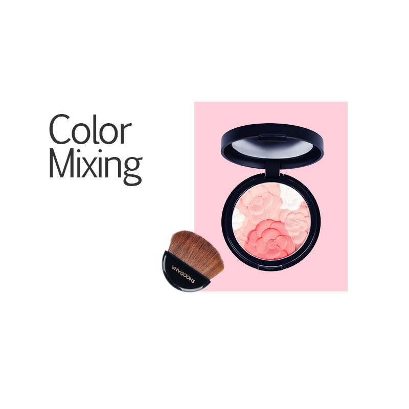 3 Colors Baked cream blush on Makeup Cosmetic Natural Baked blush blushes flower softening blusher