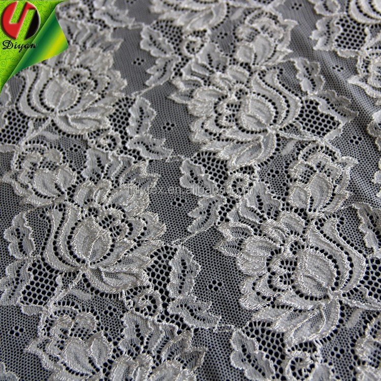 High Quality fall plate nylon Spandex Lace Fabric 12050 Grade Stretch Lace