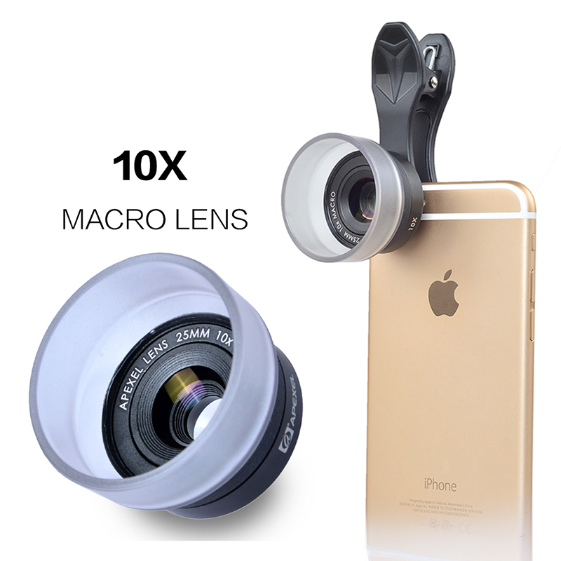 APEXEL 25MM Macro lens Clip-on Optic Cell Phone Camera Lens
