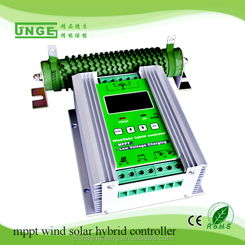 500w mppt wind solar hybrid charger controller 12v 24v 30a Wind turbine generator 300W and 200W solar panels