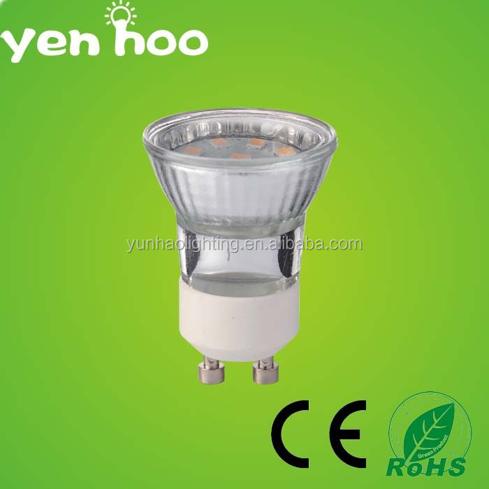 Good quality 1.8W clear glass cover SMD 2835 gu11 led lamp