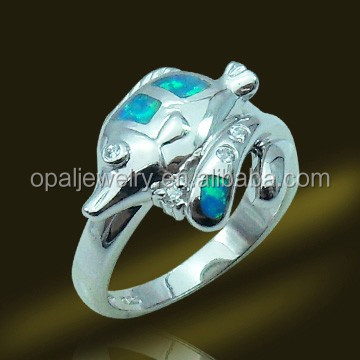 Sea theme White Opal US Size #5~#11 925 Sterling Silver Rings Jewelry