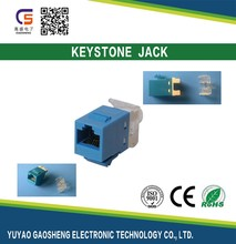 2017 Trending Products Structure Cabling System HOT SALE Best Quality 180 Degree CAT6 UTP RJ45 Keystone Jack 110 Krone