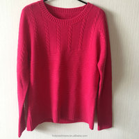 Round collar knitting wool handmade sweater design for girl