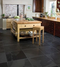 Decorative Natural Black Slate Stone tiles for roofing and flooring