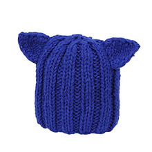 Winter Warm Hat Women's Devil Horn Knitted Hats Cat Ears Knitting Caps