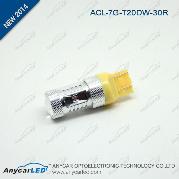 White/Amber/Red Cree 30W T20 7440 7443 LED Auto Lamp