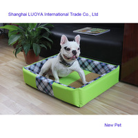 Custom made competitive price washable square bed denim fabric dog bed china