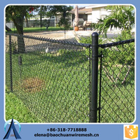 2015 best-selling low cost new design stocked hot dipped galvanized pvc coated chain link fence
