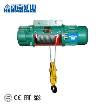 remote control 5 ton electric wire rope hoist for workshop equipment