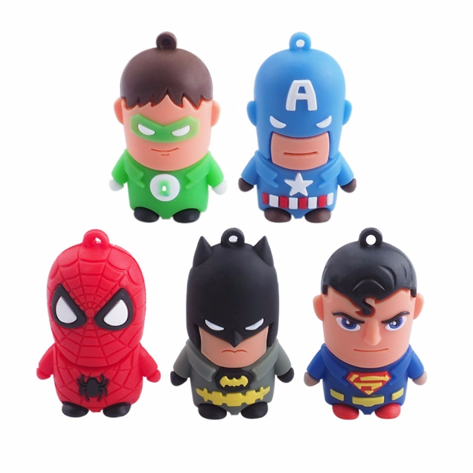 Super Cartoon Series Usb Flash Drive Batman Pen Drive 4Gb 8Gb 16Gb 32Gb Pendrive Memory Stick U Disk Usb2.0 Real Capacity