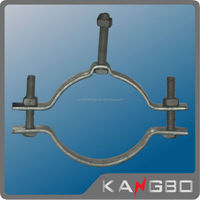 Galvanized steel clamps for telescopic poles