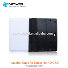 2015 Wholesale Price sublimation printing leather Phone Case For Kindle Fire 8.9''