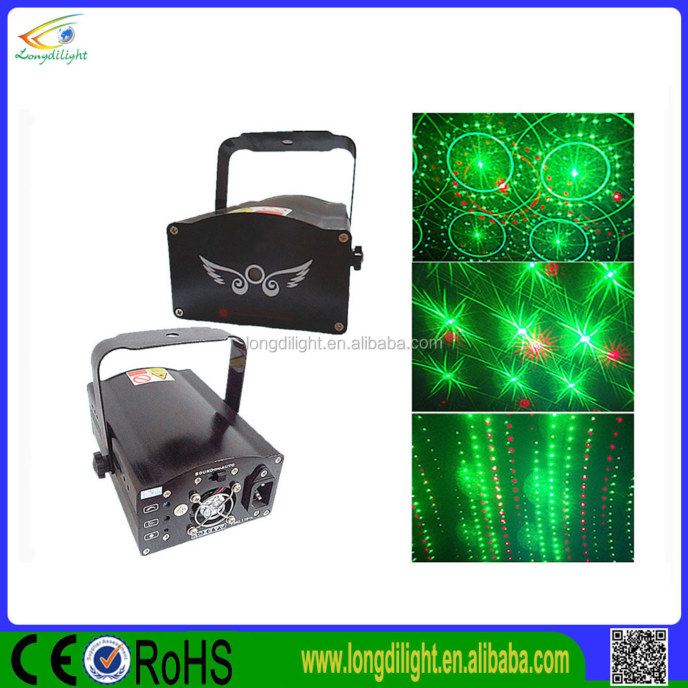eight oneness with large Angle of red, green, grating laser light