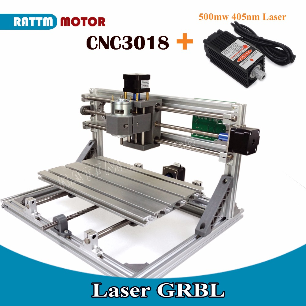 3 Axis <strong>CNC</strong> 3018 GRBL Control Diy <strong>CNC</strong> Laser machine 30x18x4.5cm Pcb Pvc Milling machine Wood Router laser engraving v2.5