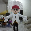 White peacock mascot costume for sale