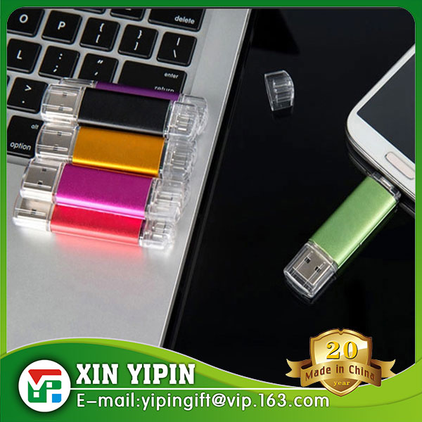 2016 Hot Sales Dual ports USB Memory Stick for Smart Phone and Computer OTG USB Flash Drive